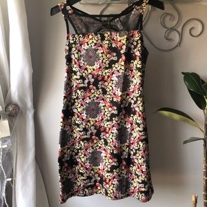 Xhilaration Floral Dress w/ Mesh in the front